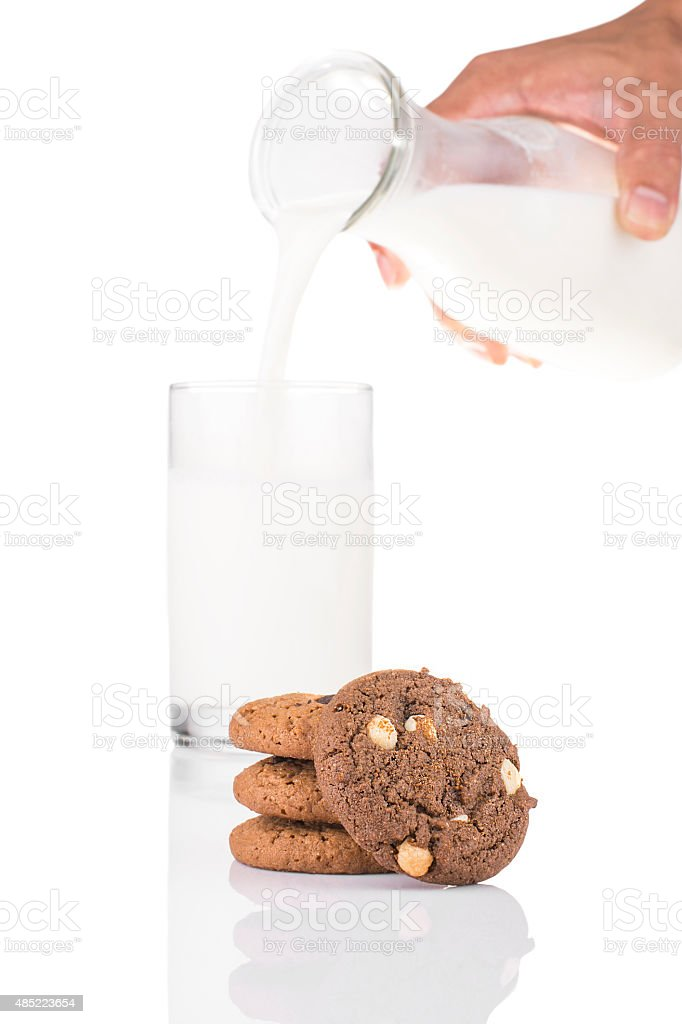 Stack of Dark Chocolate Cookies and White Chocolate Chip royalty-free stock photo