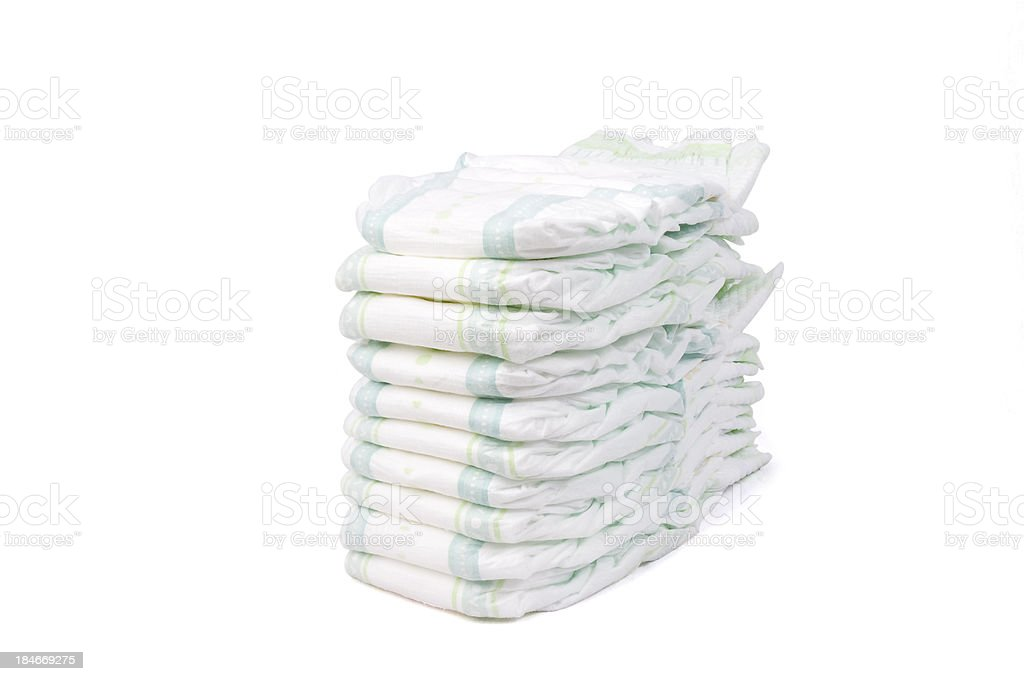 Stack of Diapers 2 stock photo