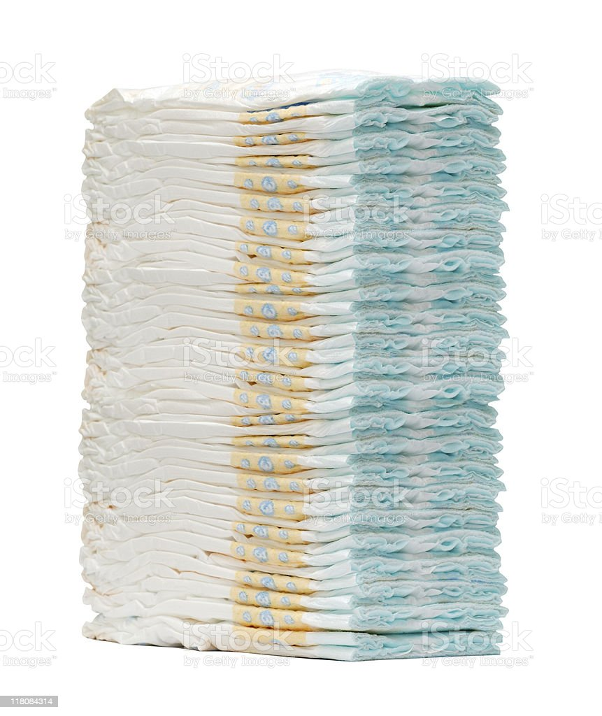 Stack of diapers royalty-free stock photo