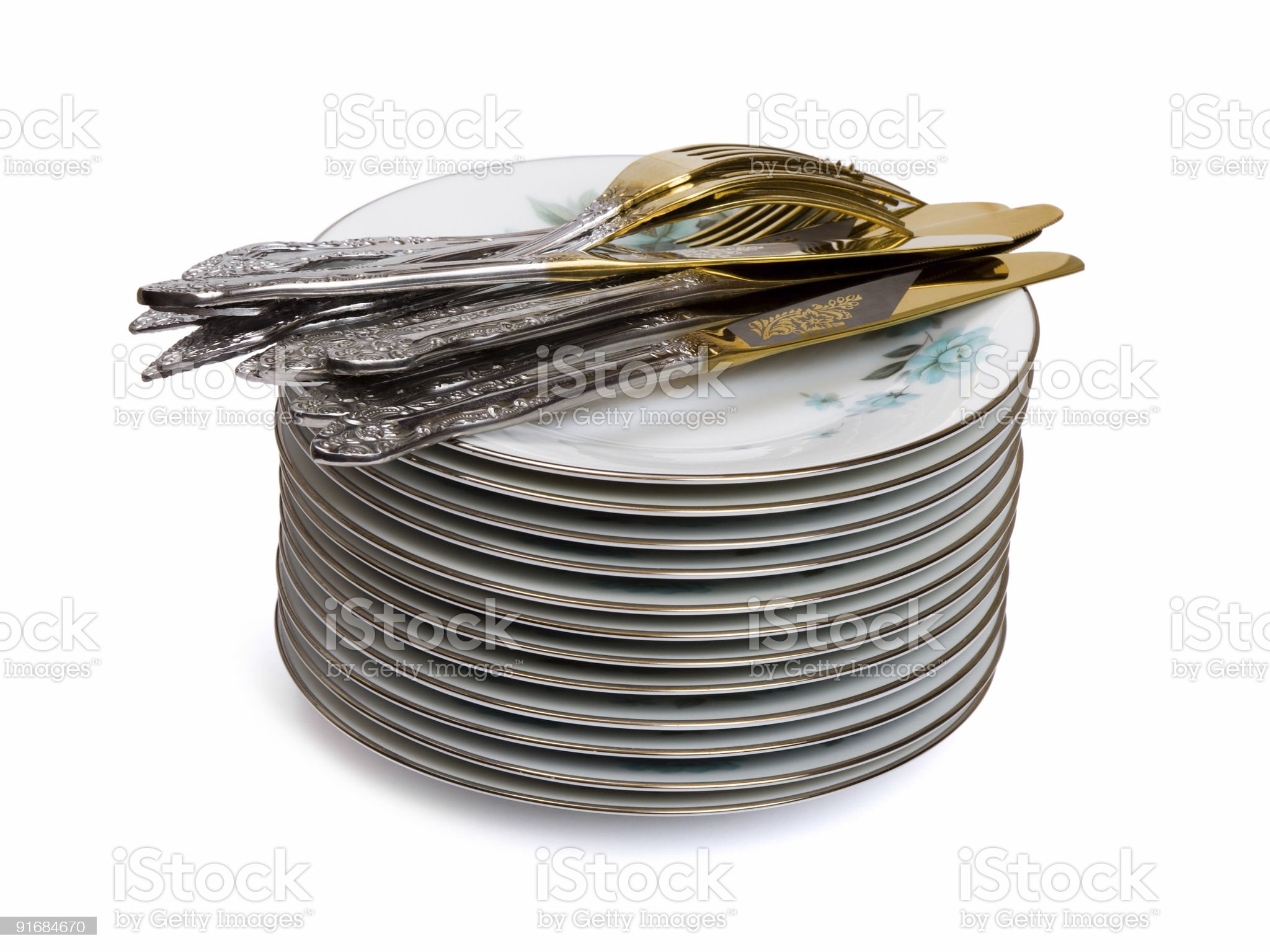 Stack of dishware royalty-free stock photo