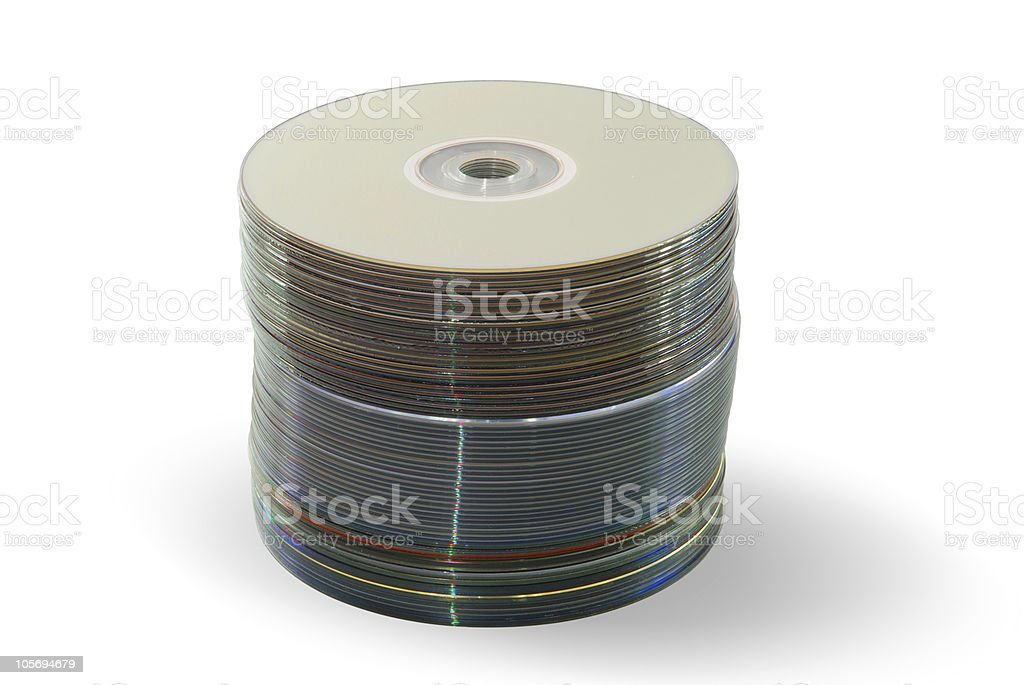 stack of disks stock photo