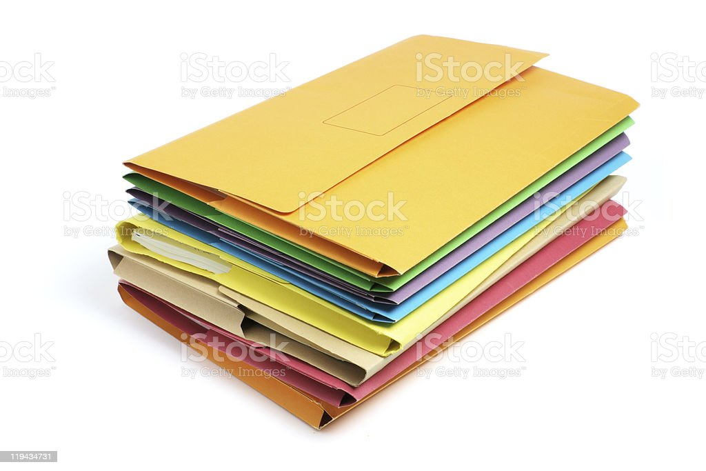 Stack of Document Folders royalty-free stock photo