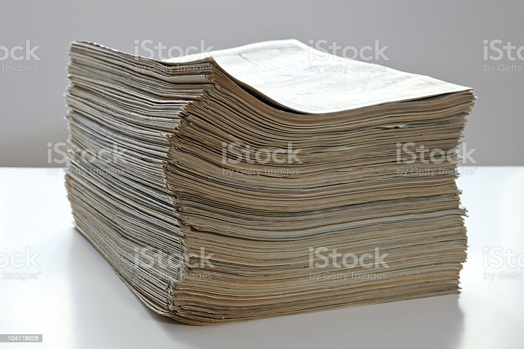 stack of documents royalty-free stock photo
