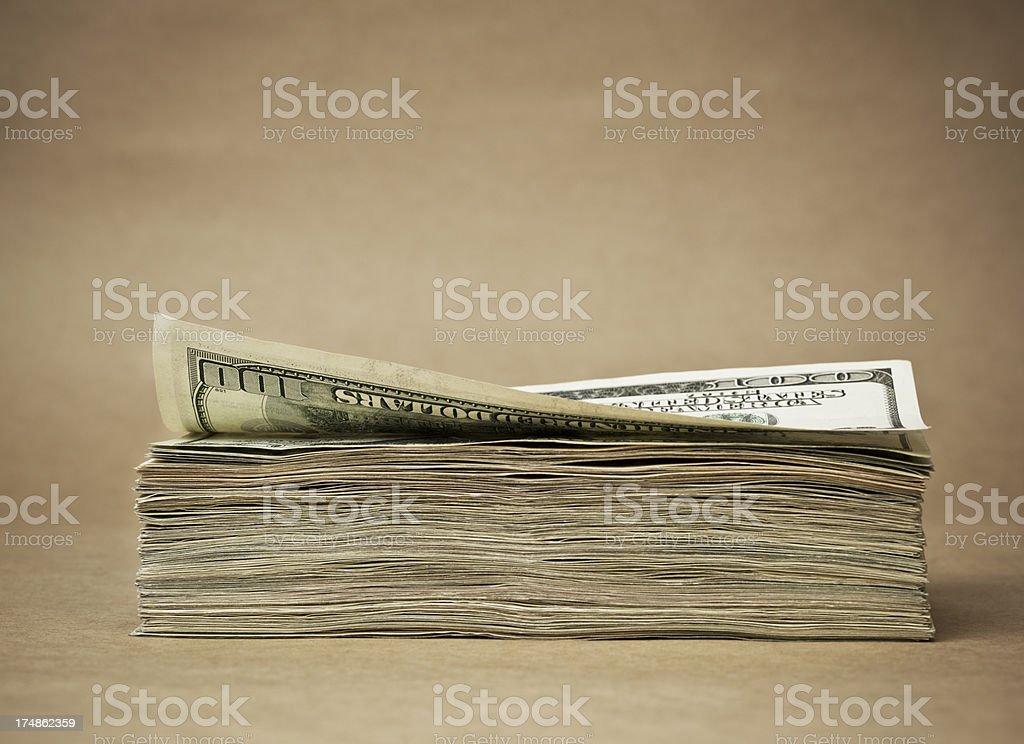 Stack of dollar banknotes royalty-free stock photo