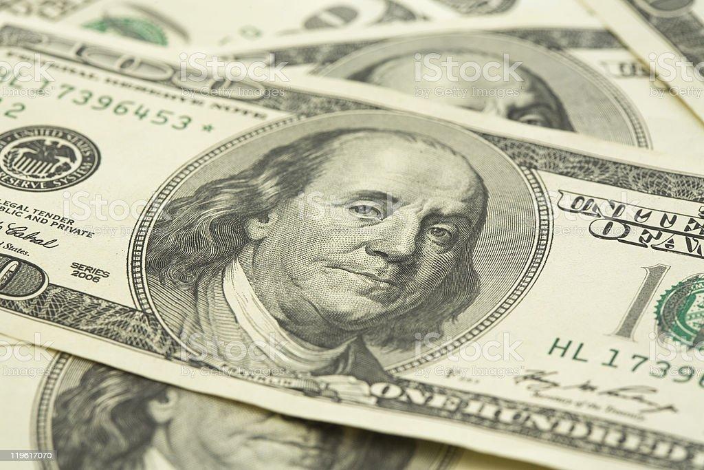 Stack of dollar bill royalty-free stock photo