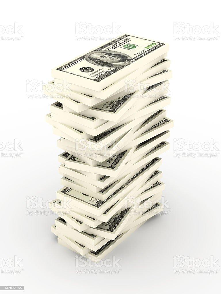 Stack of Dollar Bills royalty-free stock photo