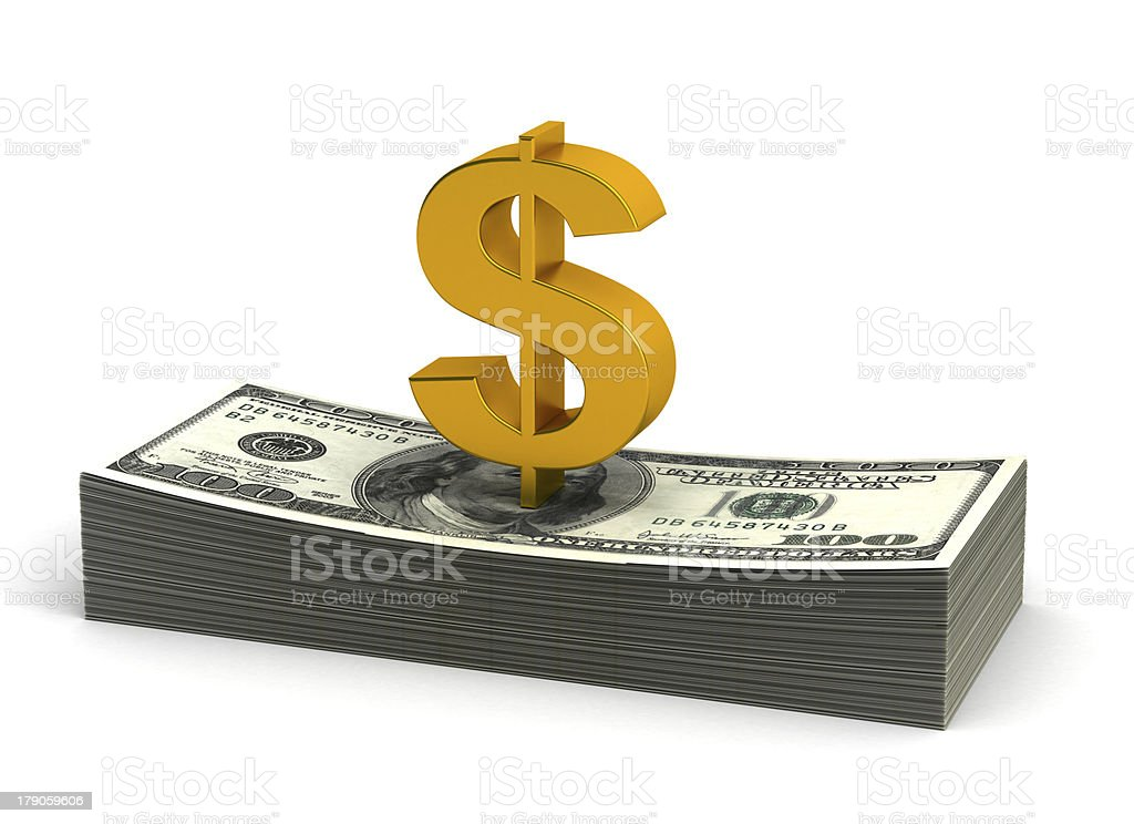 Stack of Dollar royalty-free stock photo