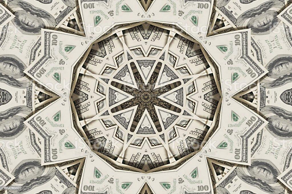 Stack of dollars on white background stock photo