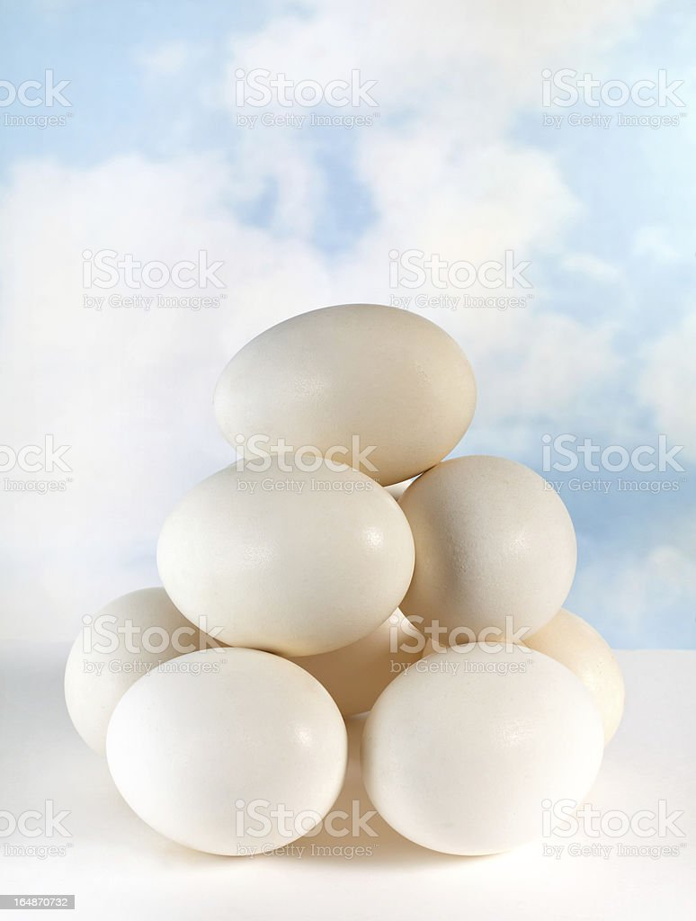 Stack of eggs royalty-free stock photo