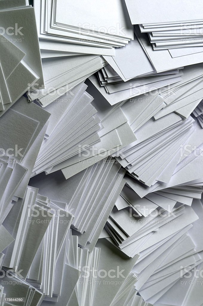 Stack of empty papers in disorder royalty-free stock photo