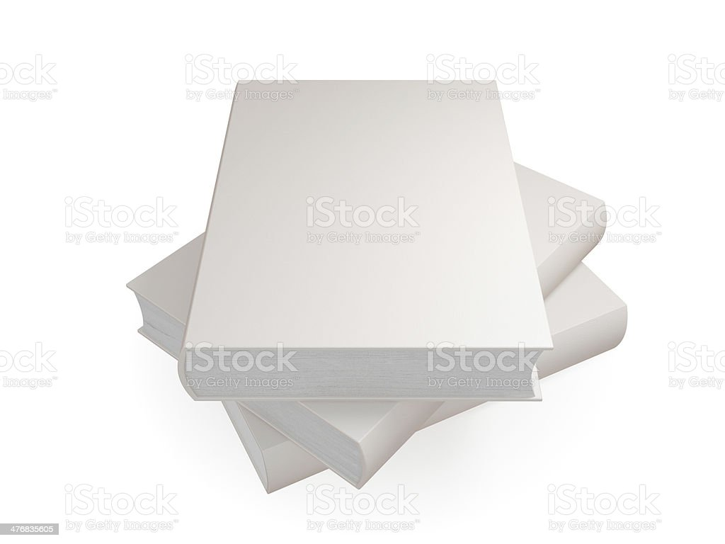 Stack of empty white books. royalty-free stock photo