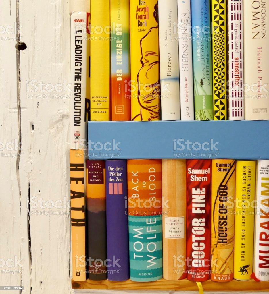Book shelves indoor