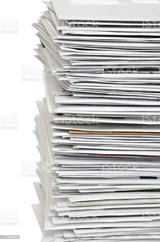 Stack of Envelopes stock photo