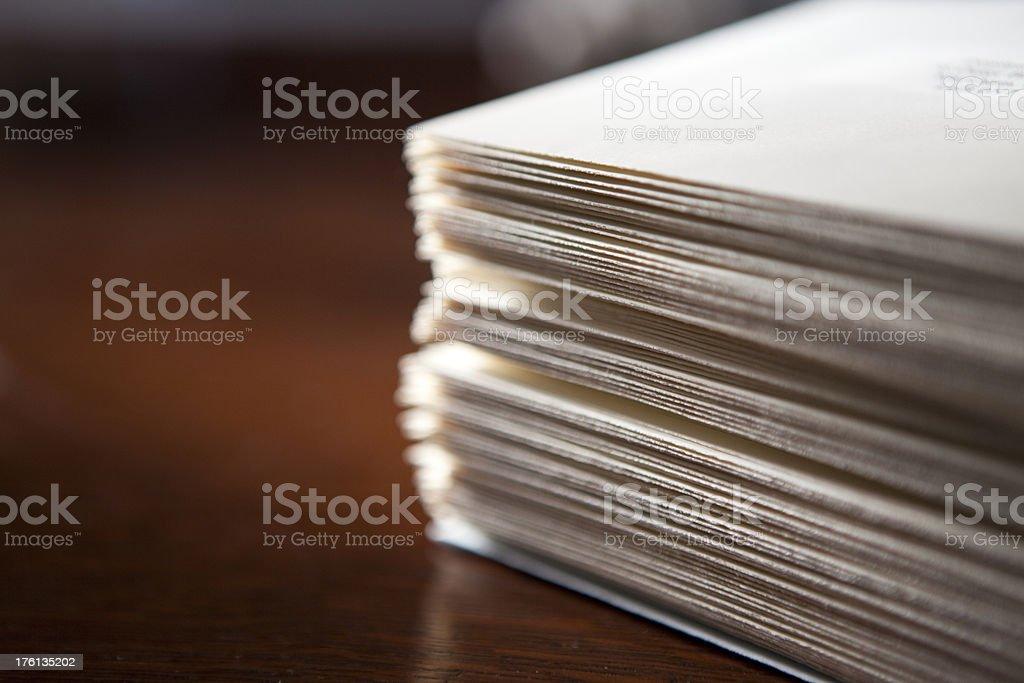 Stack of envelopes royalty-free stock photo