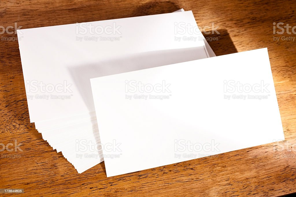 Stack of envelopes with room for text royalty-free stock photo