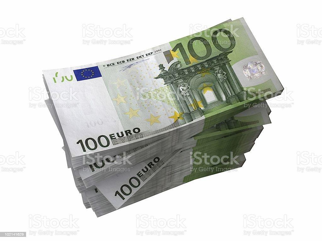 Stack of Euro Banknotes royalty-free stock photo