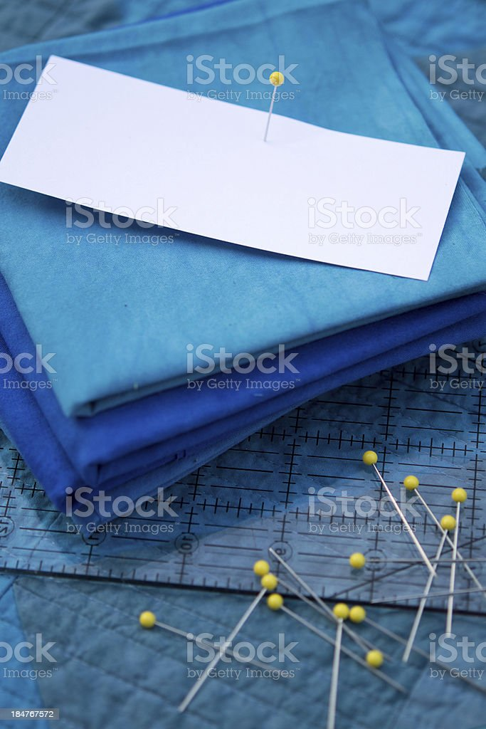 Stack of Fabric with Copy Space stock photo
