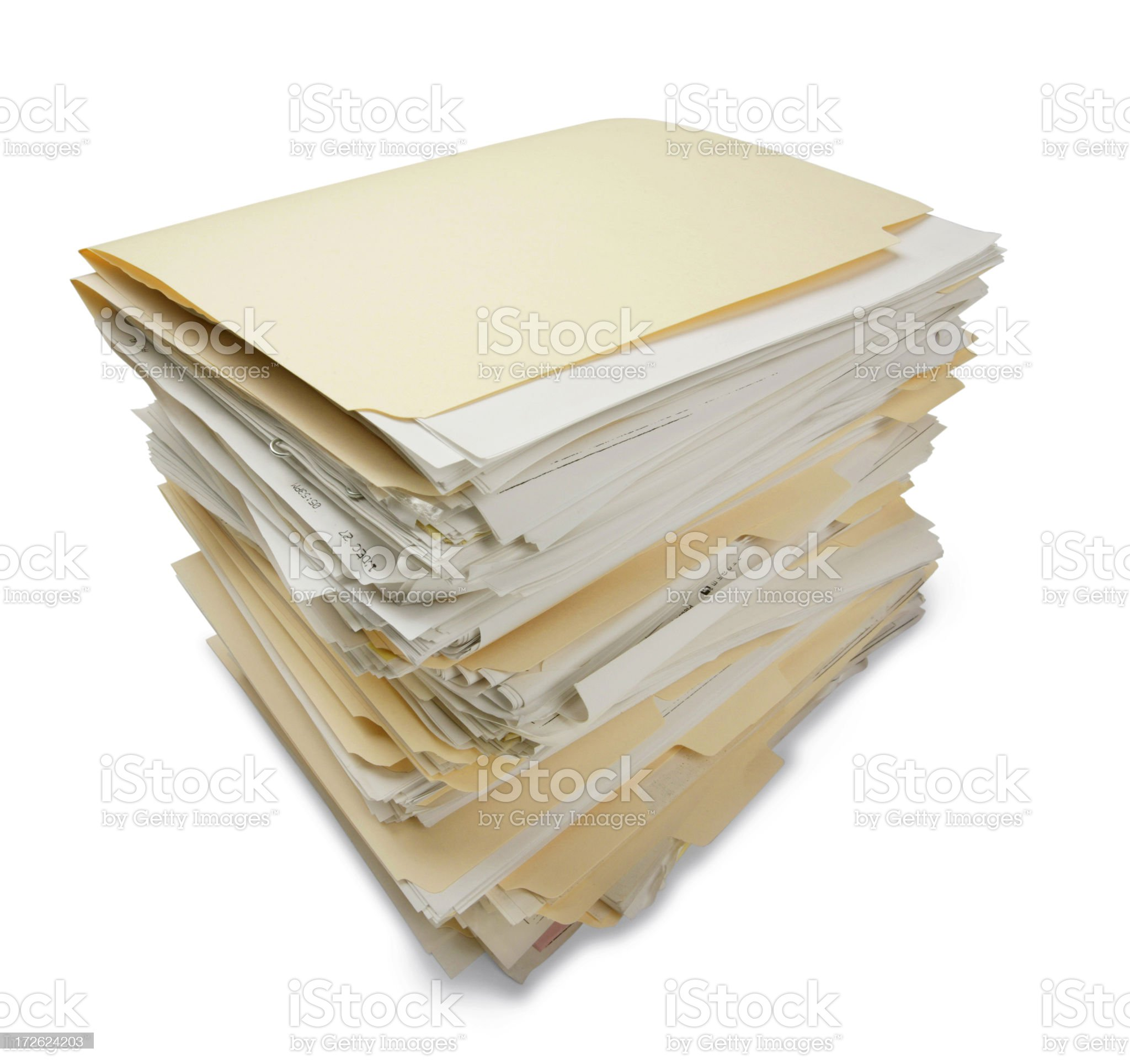 Stack of File Folders royalty-free stock photo