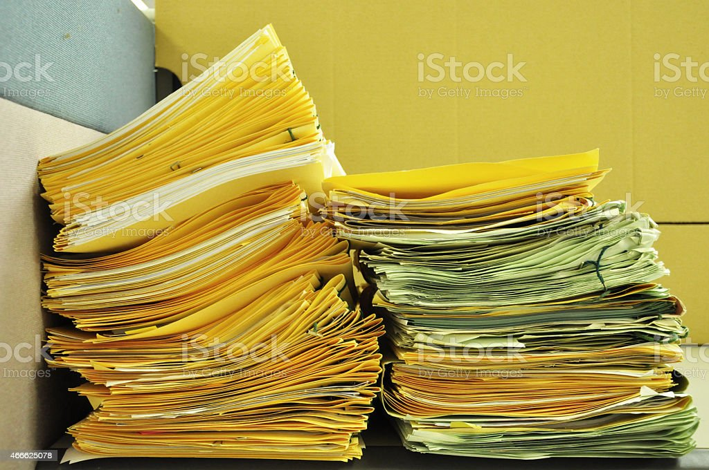 Stack Of File Folders stock photo