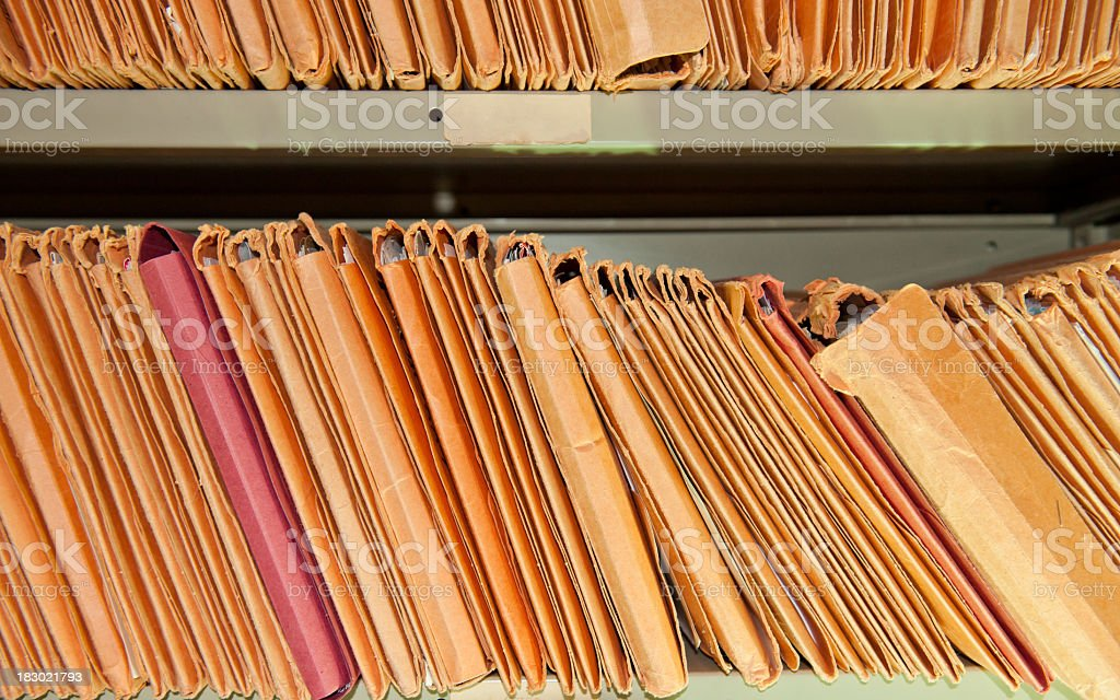 Stack of files stock photo
