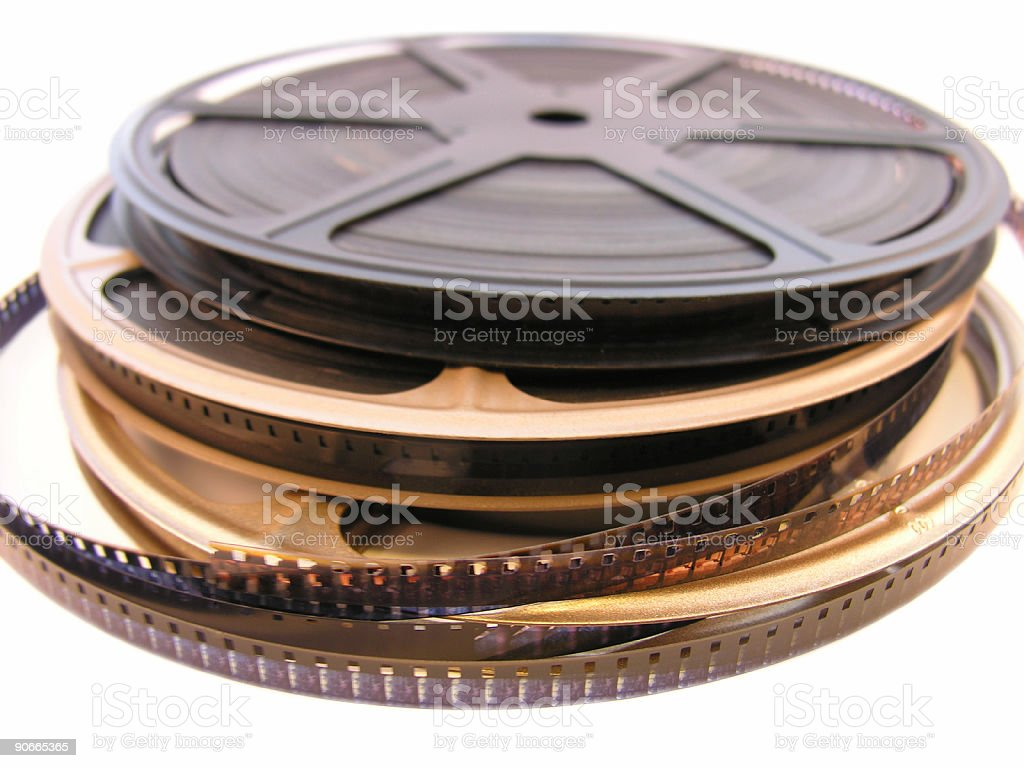 Stack of Film Reels stock photo