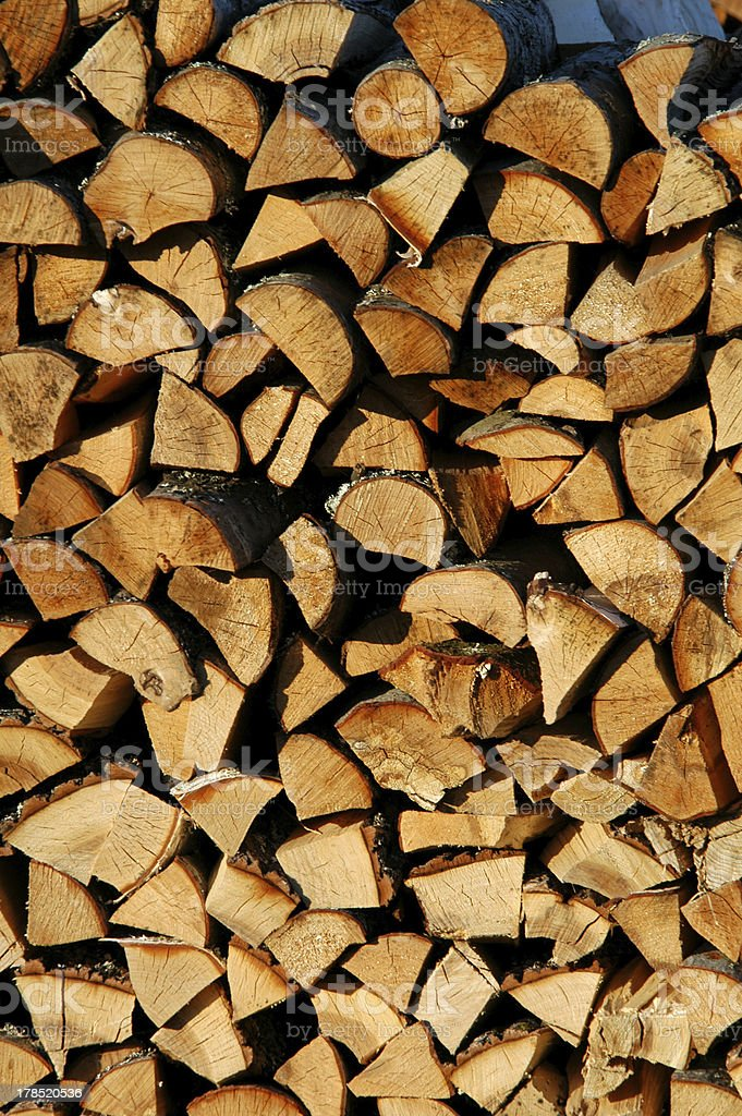 Stack of Firewood royalty-free stock photo