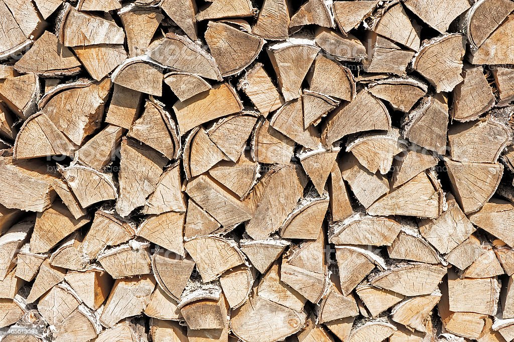 Stack of firewood. royalty-free stock photo