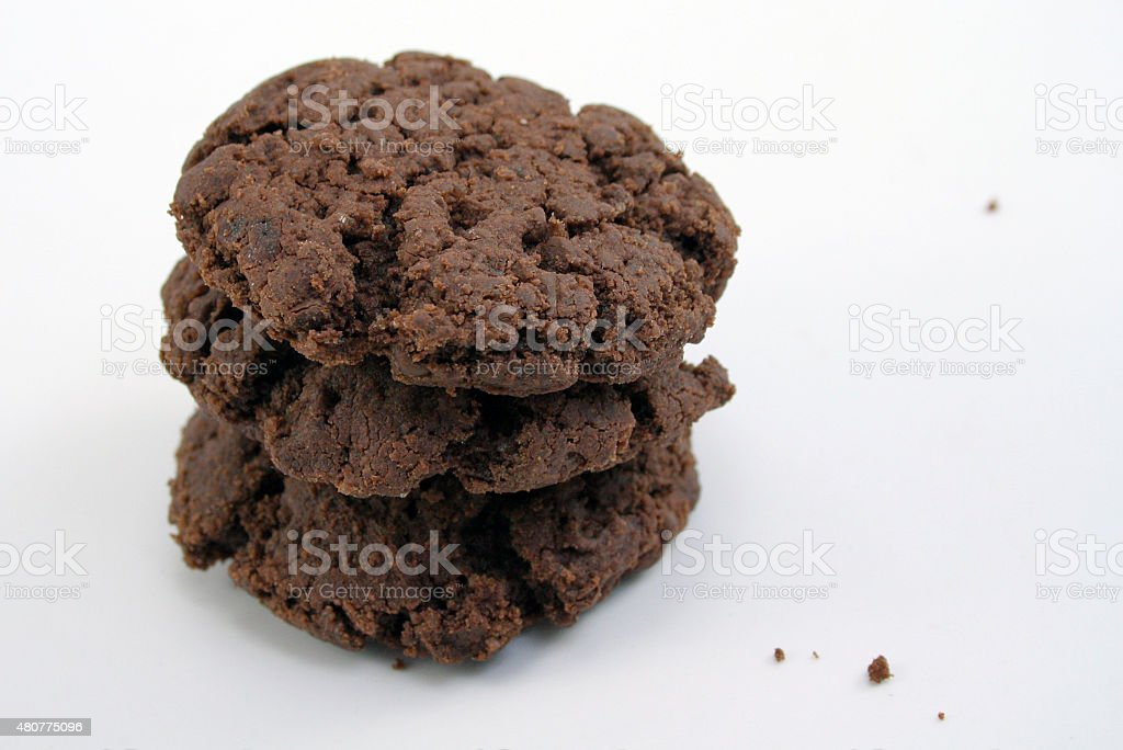 Stack of Fluer de Sel Chocolate Chip Cookies stock photo