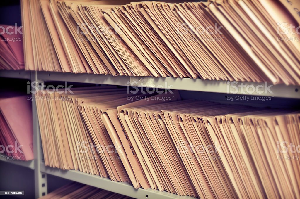 Stack of forgotten files royalty-free stock photo
