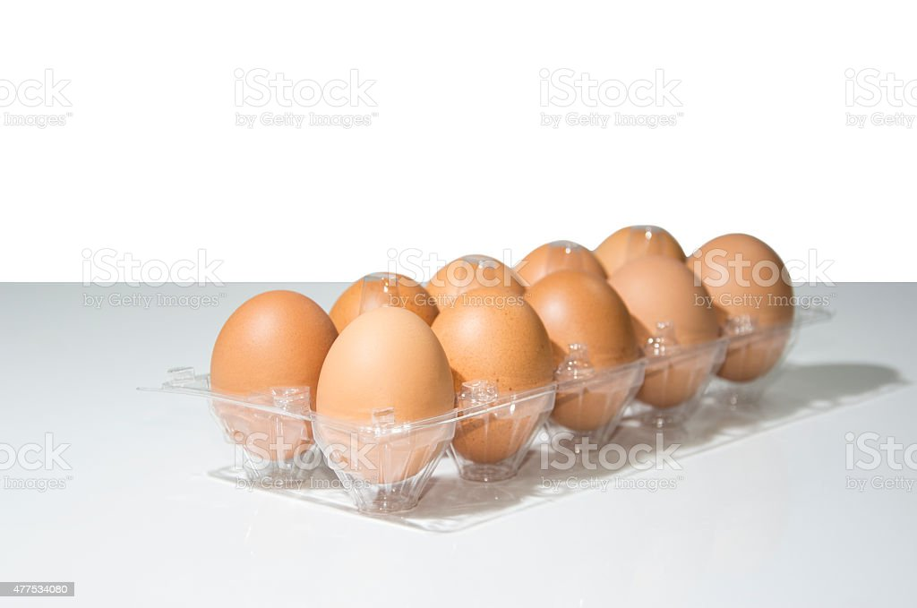 Stack Of Fresh Organic Eggs royalty-free stock photo