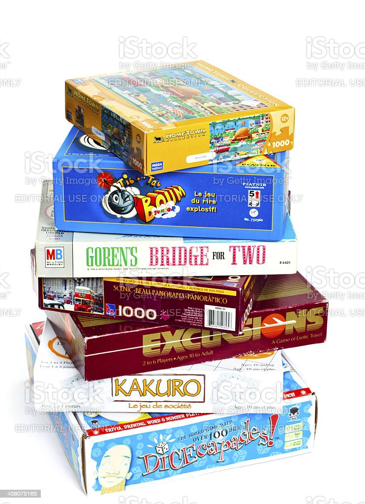 Stack of Games stock photo