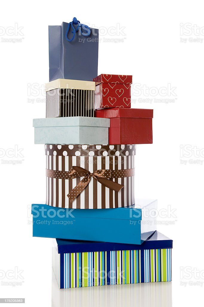 Stack Of Gift Boxes royalty-free stock photo