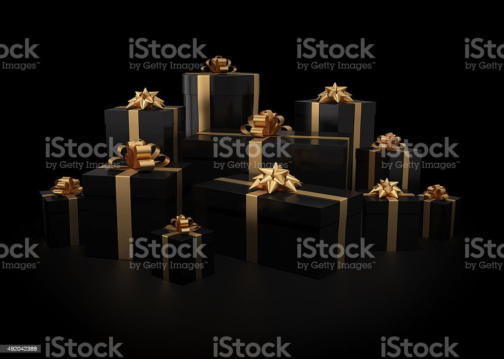 Stack of gift boxes stock photo