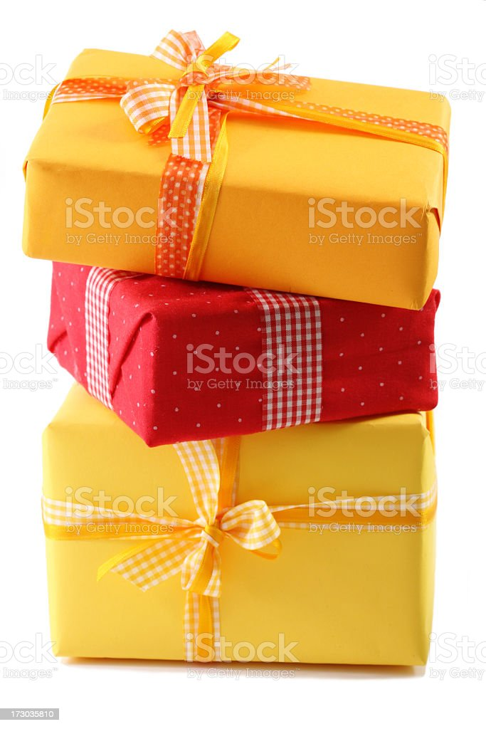 stack of gifts royalty-free stock photo