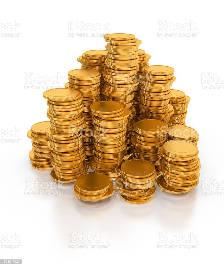 Stack of gold coins. royalty-free stock photo