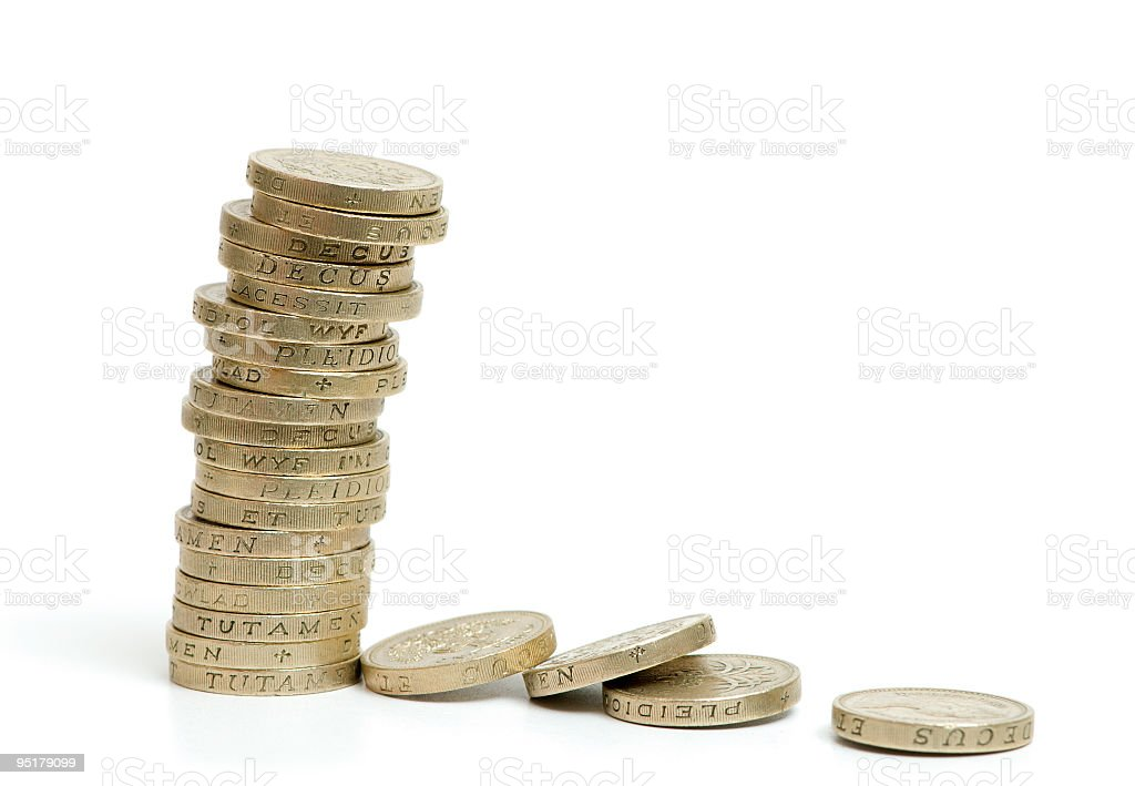 Stack of gold coins royalty-free stock photo