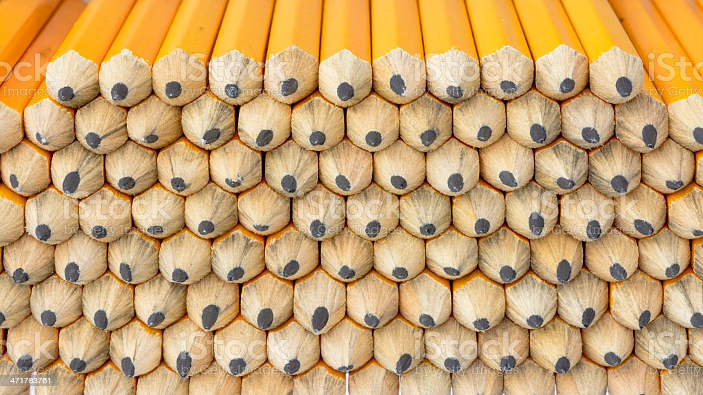 Stack of golf pencils close up royalty-free stock photo