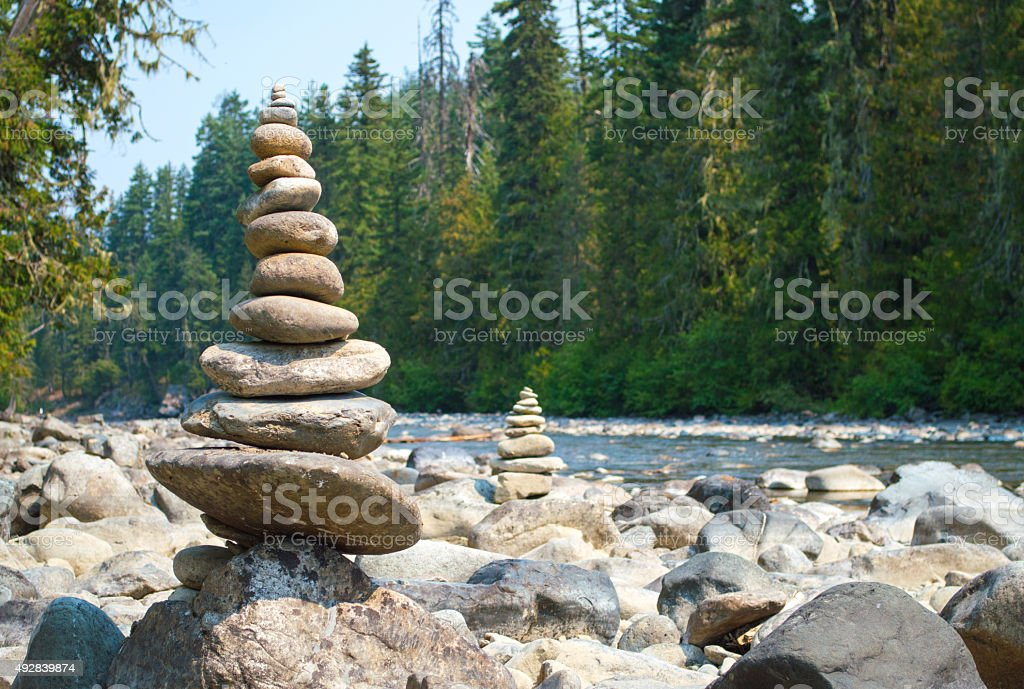 Stack of gravels stock photo