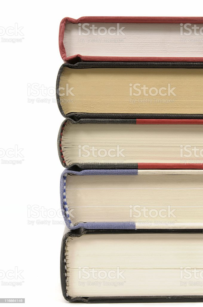 Stack of hardback books royalty-free stock photo