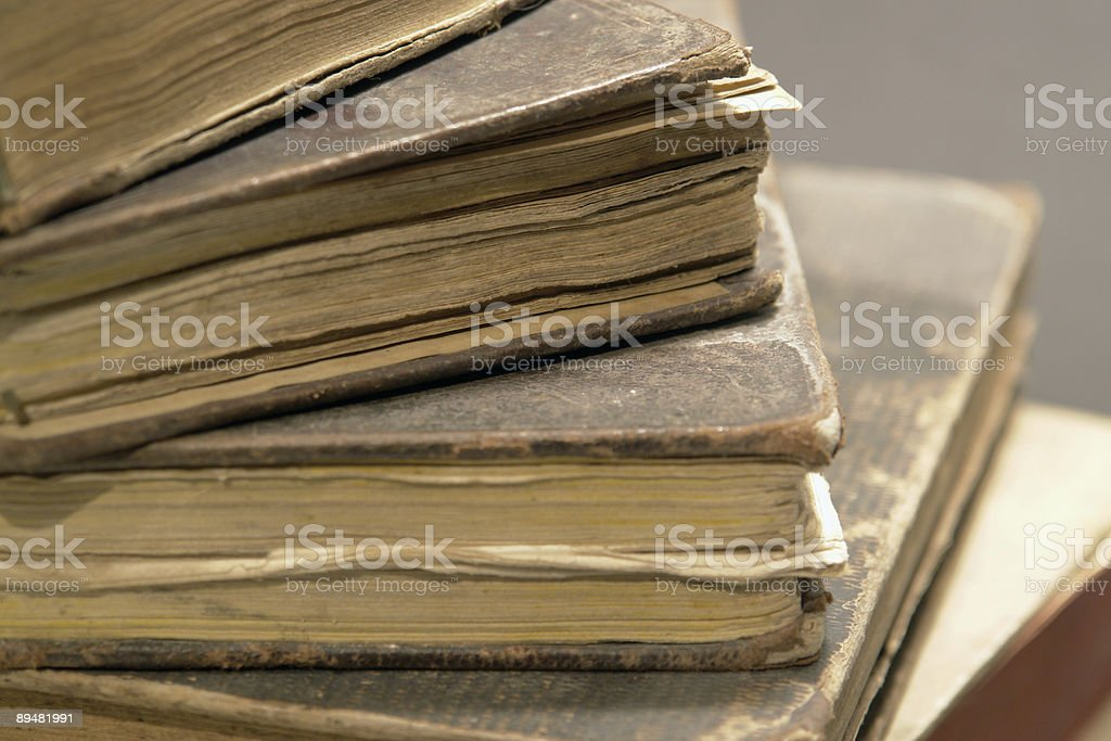 stack of historic books royalty-free stock photo