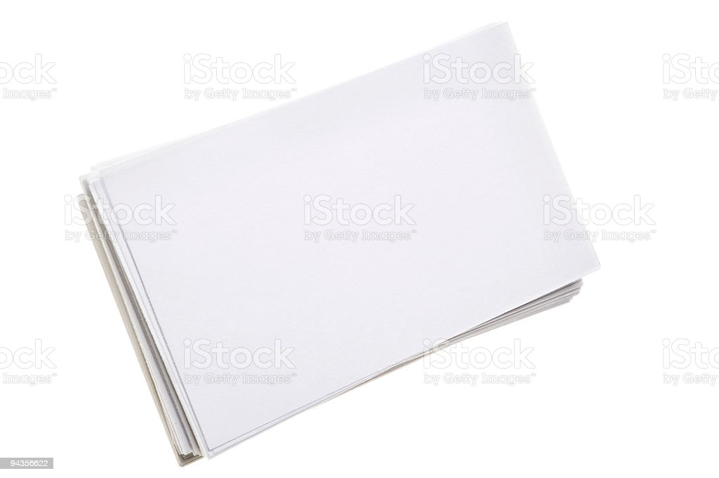 Stack of Index Cards royalty-free stock photo