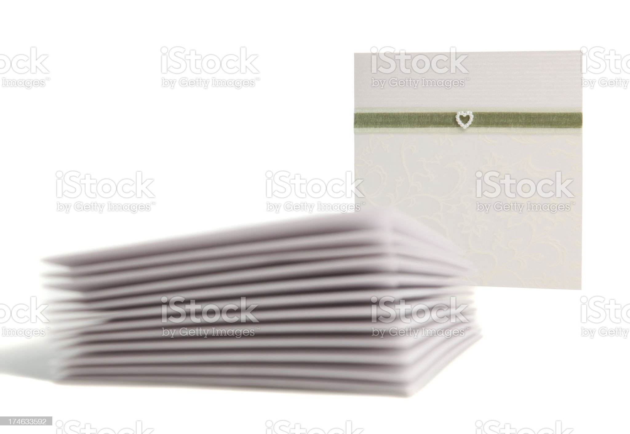 Stack of Invites to a Wedding royalty-free stock photo