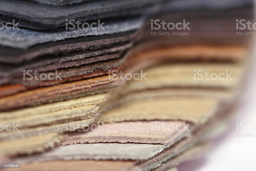 Stack of leather - macro royalty-free stock photo