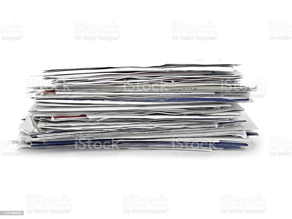 Stack of Letter stock photo