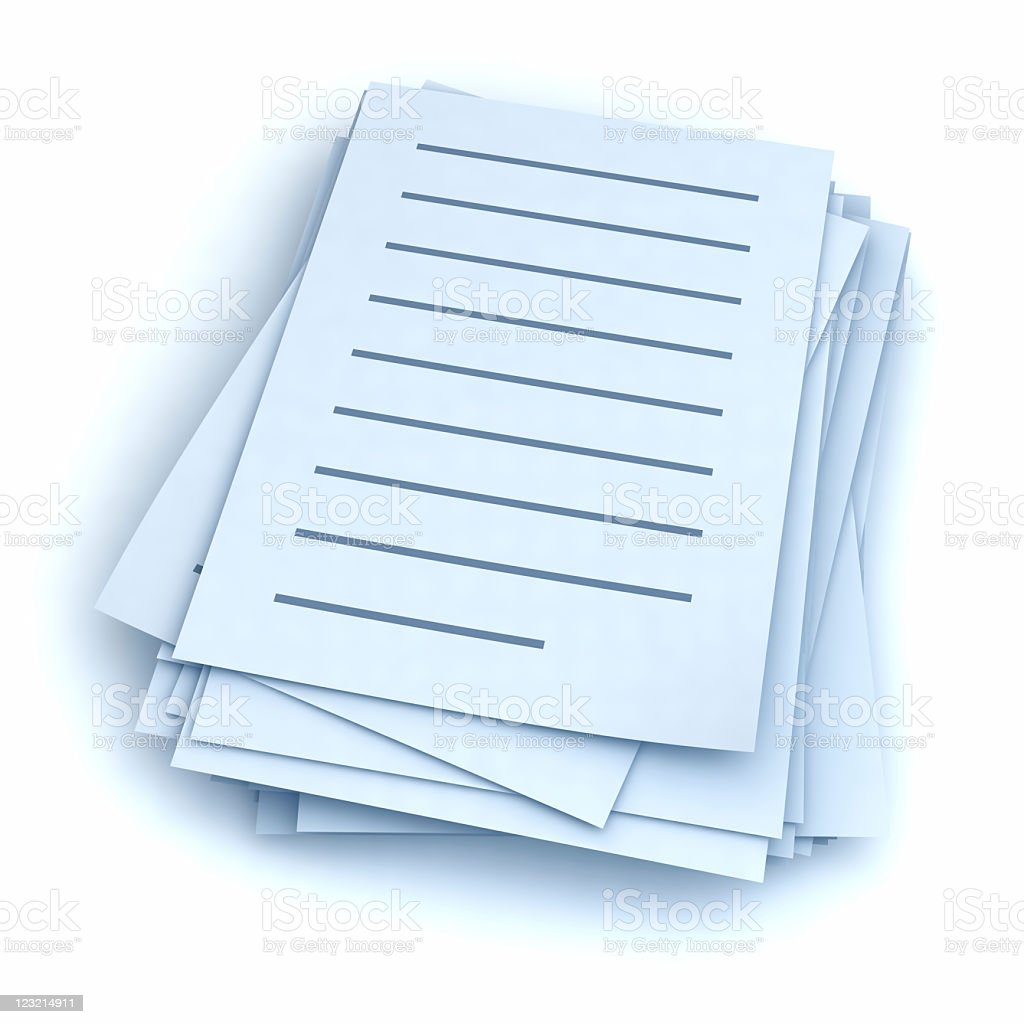 Stack of letters stock photo