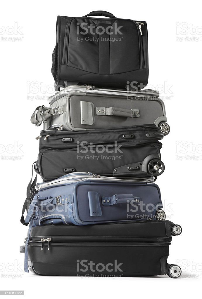 Stack of luggage stock photo