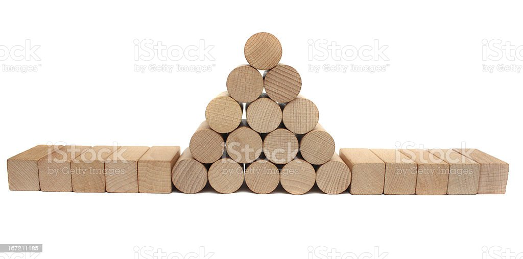 Stack of lumber royalty-free stock photo
