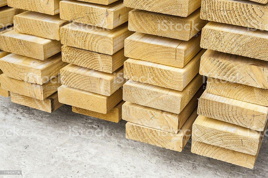 Stack of lumber royalty-free stock photo
