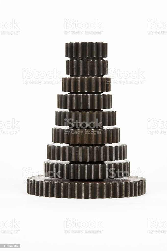 Stack Of Machine Gears royalty-free stock photo