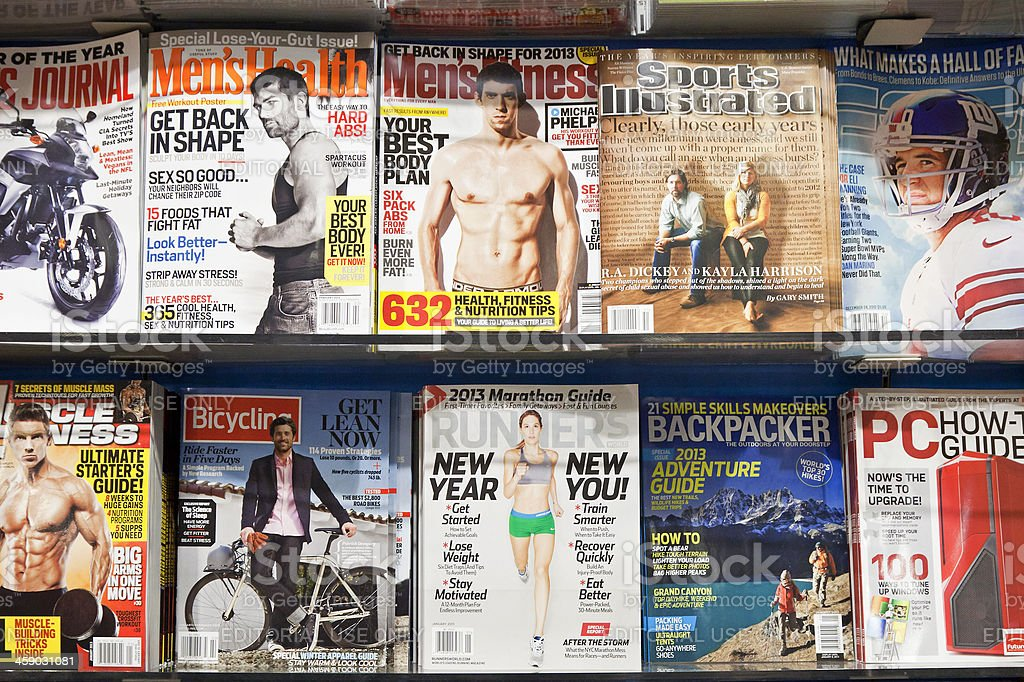 Stack of magazines # 8 # L stock photo